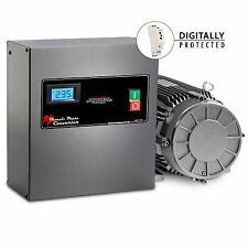 10 HP Rotary Phase Converter - TEFC, Voltage Display, Industrial Grade - PC10NLV