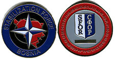 Military Challenge Coin NATO SFOR Bosnia Peace Keeping Mission OTAN Force
