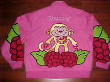 Strawberry Shortcakes Raspberry Tart Rhubarb Pink Red Yellow Designs Jacket 2XL