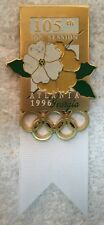 1996 Atlanta 105th IOC Olympic Session Badge White Ribbon