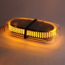 240 LED Amber Car Strobe Light Emergency Flashing Bar Magnetic Hazard Beacon