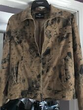 Ladies Suede look  Jacket Size L fab