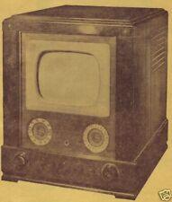 1948 GAROD 900 TV TELEVISION SERVICE MANUAL photofact 1000 1100 1200 SCHEMATIC