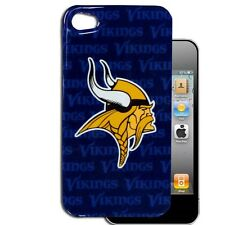 Minnesota Vikings Apple iPhone 4 4S NFL Graphics Slim Case Back Hard Snap Cover