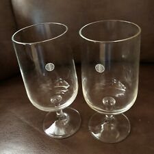 Vintage Pan Am Airlines First Class Wine Glasses (2)