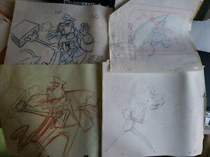 Pink Panther Original Production Animation Cels Drawing WTF Grab Bag Random 10lb