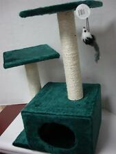 Kitty Cat Tree Scratching post Furniture condo Pet house Toy Green with Mouse