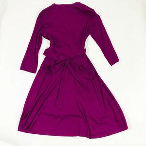 NWT Banana Republic Issa London Collection Purple Wrap Dress Wms Medium