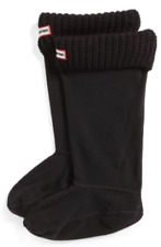 Hunter Womens Black Half Cardigan Welly Boot Socks Sz M 6322