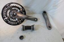 Shimano XTR FC-M960 Crank Set Bottom Bracket 2x9 Speed 175mm w/ Blackspire Rings