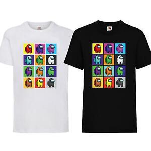 New Boys Girls Among Us Game Impostor T-Shirt Crewmate Kids Gaming Birthday Gift