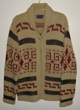 MENS M VINTAGE PENDLETON FULL ZIP WOOL COWICHAN SWEATER JACKET BIG LEBOWSKI USA