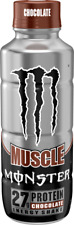 Monster Muscle Energy Protein Shake - Chocolate - 15fl.oz. (Pack of 12)