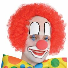 Mens Circus Baldy the Clown Red Wig Book Week Fancy Dress Accessory Party Show