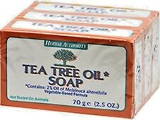 TEA TREE OIL BODY HAND 100% NATURAL Melaleuca ANTIFUNGAL HERBAL PURE SOAP 3 BARS