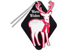 New ! 4 X 6 counts Deer with Scarf Premium Gift Tag Set - Wondershop