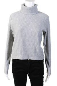 Club Monaco Womens Meredy Ribbed Knit Top - Heather Grey size M