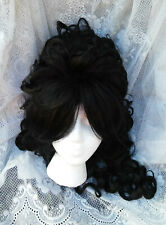Women Marie Antoinette Rococo French Revolution Baroque Long Curly Black Wig