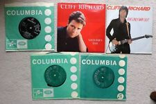"""Cliff Richard - 5 x 7"""" Saviours day / The only way out / Young ones / Bachelor.."""