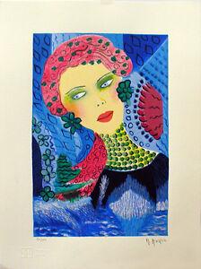 """MARIA MURGIA - """"Estivo"""" - Serigrafia a 30 colori cm 40x30"""