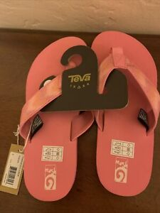 Teva 110446-Mush Junior Pink Multi Sparkle Flip Flop Sandal Size 5