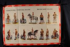 Poster British Army Uniforms 1914-1918 1976 (392Oz)