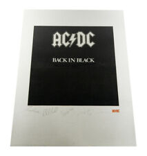 AC/DC Back In Black Plate Signed Lithograph Print 22x28 #'d /2500 COA Auto