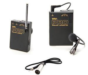Pro AJ‑PX270 WLM XLR M wireless lavalier mic for Panasonic PX230 HVX200A X1000
