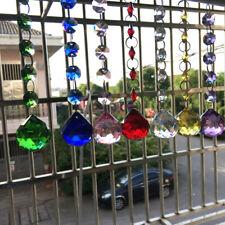 7Pc Rainbow Crystal Ball Suncatcher Feng Shui Prisms Pendant 7color DIY Ornament