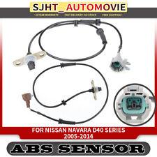 2x ABS Sensors for Nissan Navara D40 Series 2005-2014 Rear Left&Right 2.5L 4.0L