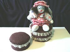 Vintage Clown With A Hand Made Chair & Stool