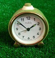 vintage alarm clock Mechanical Ruhla GDR Germany
