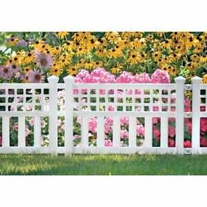 Suncast 20 1/2 In. H x 24 In. L Resin Decorative Border Fence GVF24  - 1 Each