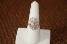 Diamond Coctail Ring. 1-3/4 Carats in Genuine Diamonds. Baguettes & Round Stones