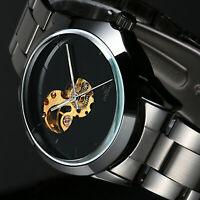 Mens Watch Automatic Black Dial Stainless Steel Band Self-winding Fashion Luxury