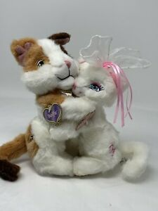 Barbie Princess n Pauper WOLFIE & SERAFINA Plush Hugging Cats 2004 Rare