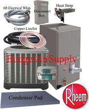 """Rheem/Ruud""""Classic""""2.5 ton 14 SEER HEAT PUMP RP1430AJ+RH1T3617S+25ft INSTALL Kit"""
