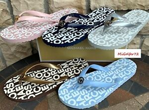 Michael Kors New in Box MK Logo PVC Flip Flops - Choose Your Size and Color!