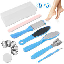 12Pcs Pedicure Kit Set Callus Remover Rasp Foot File Scraper Nail Care Tools Us