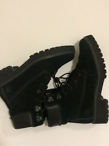 RARE Timberland Carnaby Cool Suede Boots, Women's Black