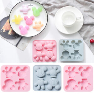 DIY Mickey Mouse Silicone Mould Baking Chocolate Cake Decoration Jelly Tray Mold