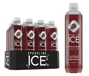 Sparkling ICE, Grape Raspberry Water, with Antioxidants &...