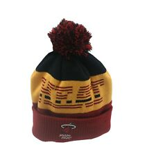 Miami Heat NBA Adidas Kids Youth Boys (8-20) OSFM Winter Pom Knit Beanie Hat New