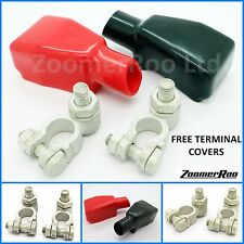 Pair of Positive & Negative Cargo Type Heavy Duty Battery Terminals Clamp