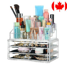 Clear Makeup Cosmetics Organizer Transparent Storage Box Acrylic with 3 Drawers
