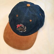 Vtg Denim Nabisco Logo SnapBack Cap Hat Sueded Bill Philippines Made Simply The