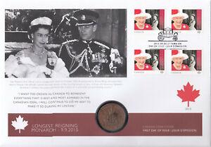 (A74942) Canada 1953 Coronation Medal FDC Queen Elizabeth Longest Reigning 2015