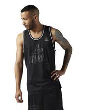 BNWT LES MILLS REEBOK Men's Black Basketball Mesh Tank Size S