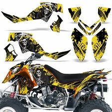 Decal Graphic Kit Polaris Outlaw 500/525 ATV Quad Wrap Deco 2006-2008 REAP YLLOW