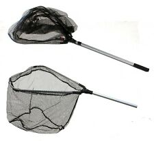 Dinsmores Flick up Fishing Landing Net for Fly / Trout Fishing RUBBER DIPPED
